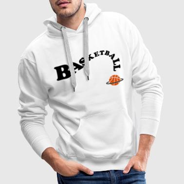 Basket S Basket-ball Basketball basket - Sweat-shirt à capuche Premium pour hommes