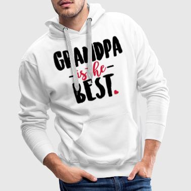 Grandpa is the best - Sweat-shirt à capuche Premium pour hommes