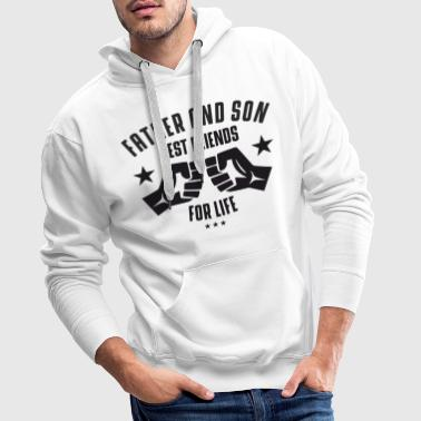 Father and Son best friends for life - Men's Premium Hoodie