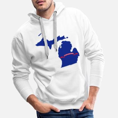 Michigan Michigan - Bluza męska Premium z kapturem