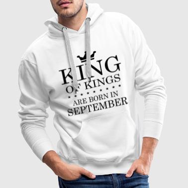 BIRTHDAY T SHIRT SEPTEMBER - Männer Premium Hoodie