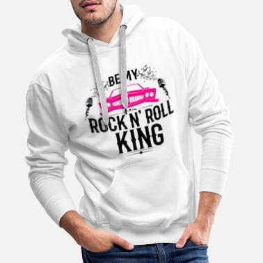 Cadillac Rock n'Roll rockabilly cadillac cool sayings - Men's Premium Hoodie