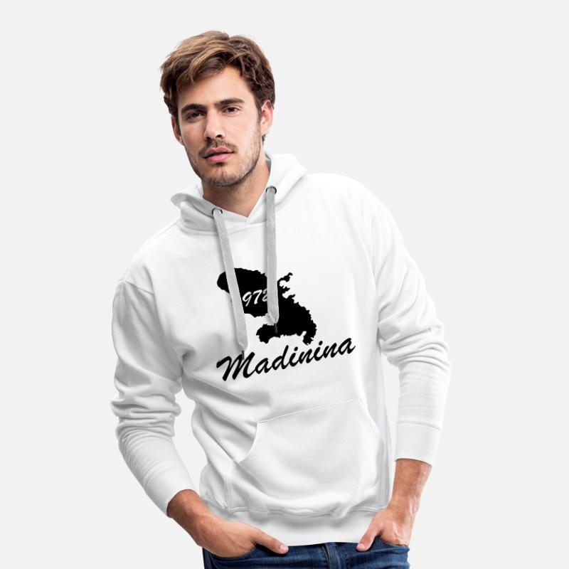 Martinique Sweat-shirts - madinina - Sweat à capuche premium Homme blanc