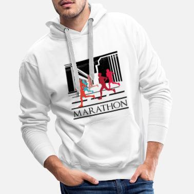 Marathoner Marathon running fitness jogging gift sports - Men's Premium Hoodie