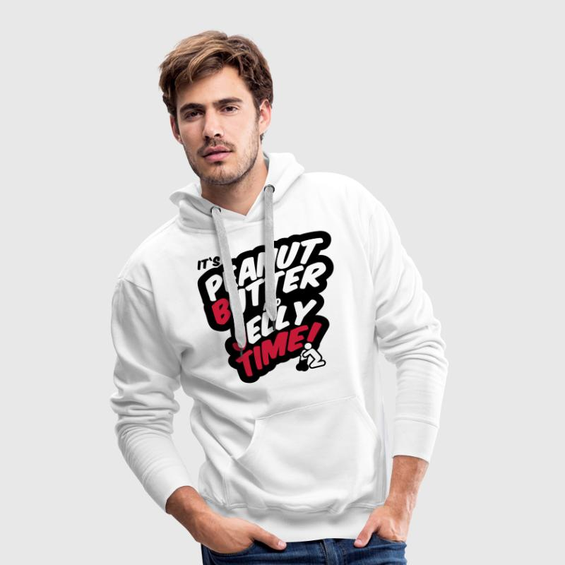 Peanut butter and jelly time, blowjob - Mannen Premium hoodie