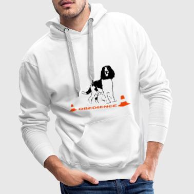 Obedience Springer Spaniel in Box - Männer Premium Hoodie