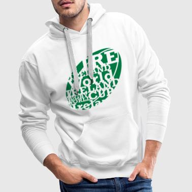 Rugby Ball Text - Men's Premium Hoodie