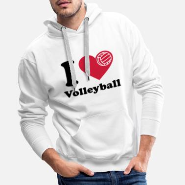 Volleyball Volleyball  Volley-ball Volley  - Sweat-shirt à capuche Premium pour hommes
