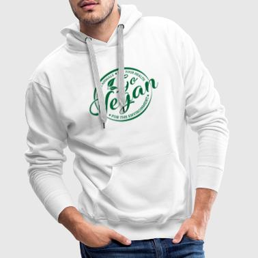 Go Vegan for animals & health & environment - Sweat-shirt à capuche Premium pour hommes