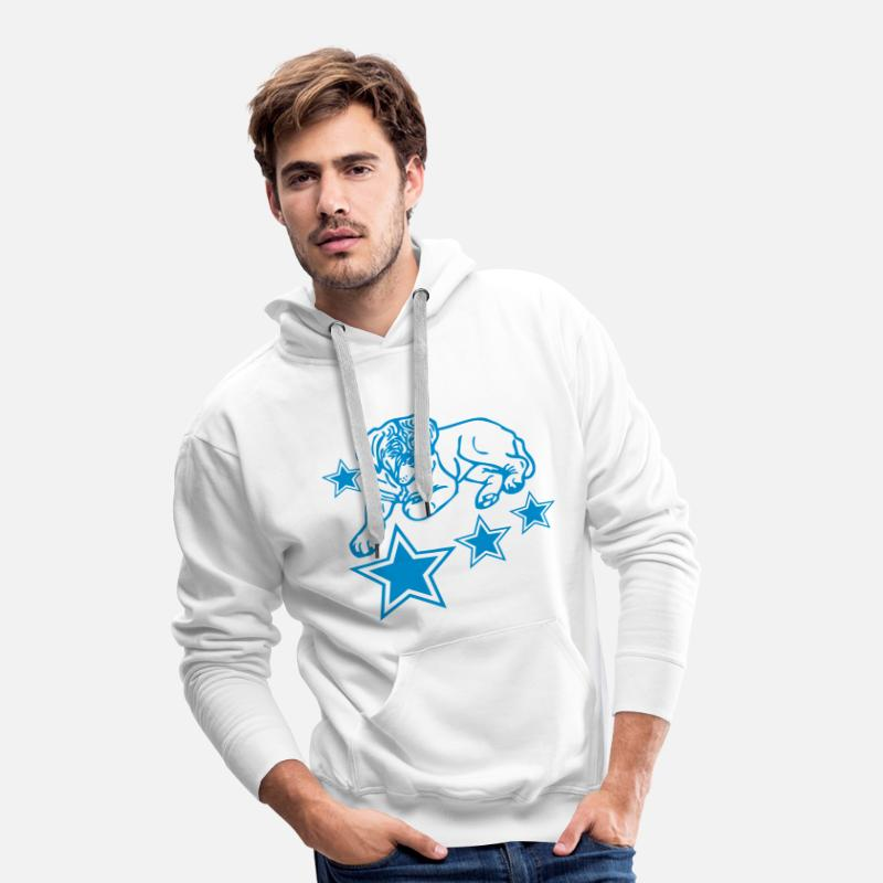 Bordeaux Sweaters - bordeaux © - www.dog-power.nl - Mannen premium hoodie wit