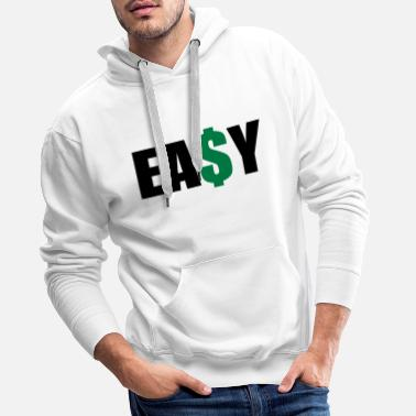 Rap Easy Money - Felpa con cappuccio premium da uomo