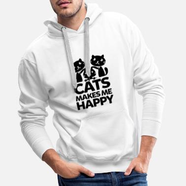 Tiger CATS MAKES ME HAPPY - Men's Premium Hoodie