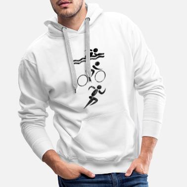 Wheel Triathlon sport swimming wheel race used - Men's Premium Hoodie