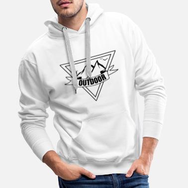 Set Outdoor hiking mountaineering camping - Men's Premium Hoodie