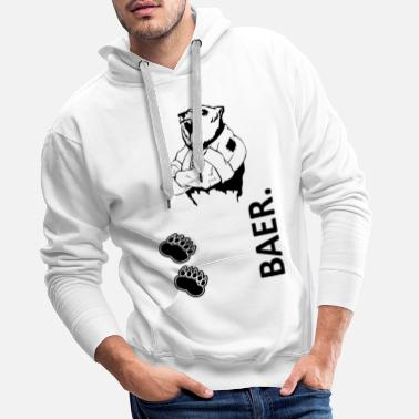 Motivation BAER Sport1 noir - Sweat-shirt à capuche Premium pour hommes