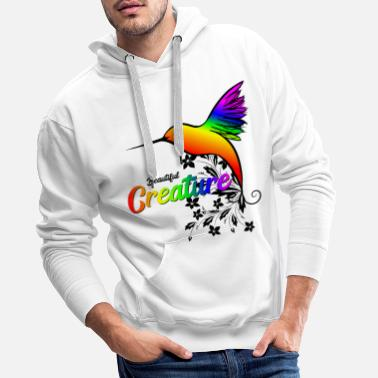 Hummingbird Hummingbird beautiful creature beautiful hummingbird - Men's Premium Hoodie