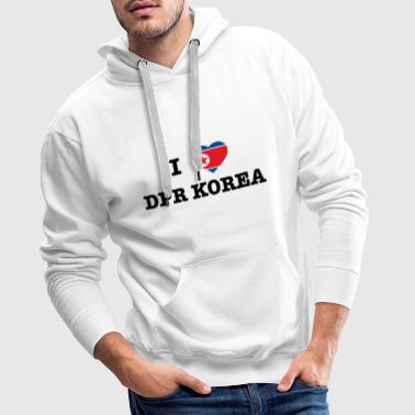 I heart North Korea - Premiumluvtröja herr