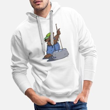 Hillbilly The Hillbilly bear plays bass guitar - Men's Premium Hoodie