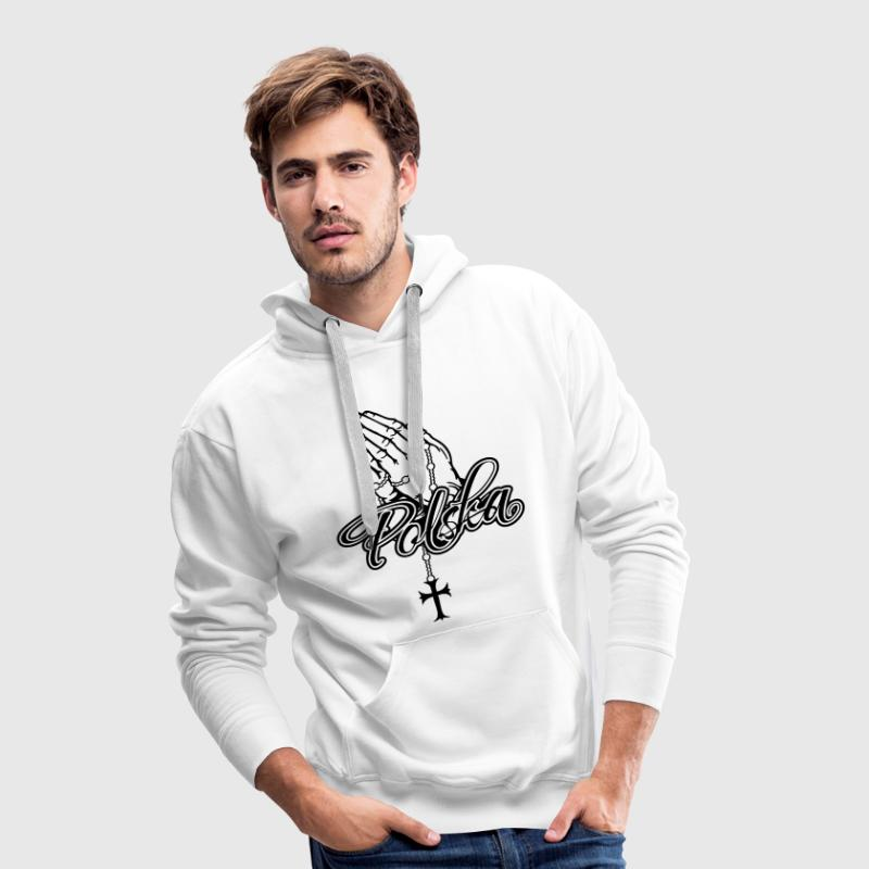 Praying Hands Polska Cros - Männer Premium Hoodie