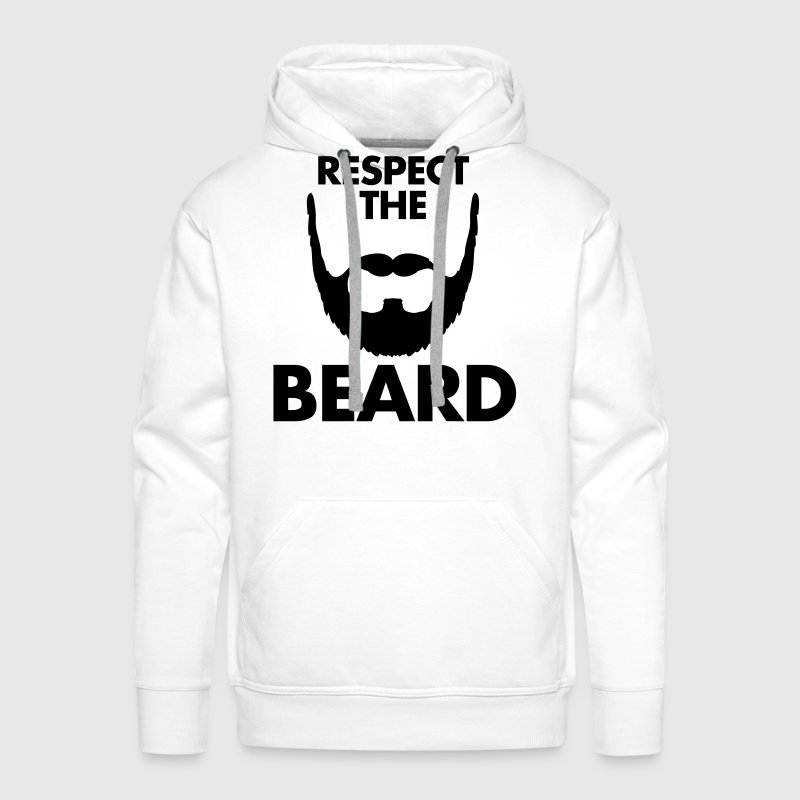 Respect The Beard - Männer Premium Hoodie