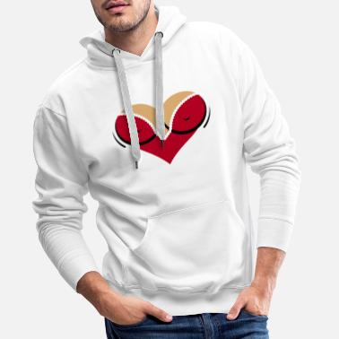 Cleavage Heart-shaped woman s breasts with deep cleavage - Men's Premium Hoodie