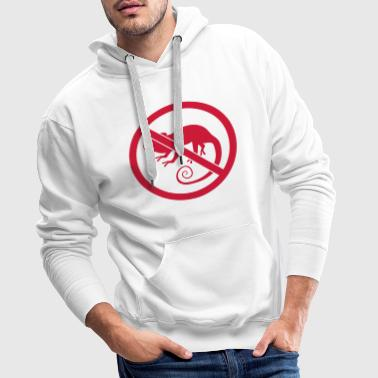 Lizard zone forbidden shield no chamaeleon silhouette silho - Men's Premium Hoodie
