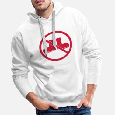 Turtle zone shield prohibited take off no boots shoe - Men's Premium Hoodie