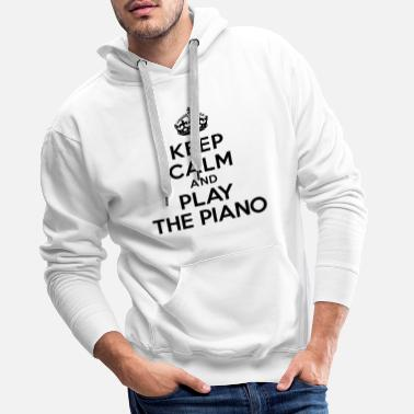 Piano Keep calm and play the piano - Sweat-shirt à capuche Premium pour hommes