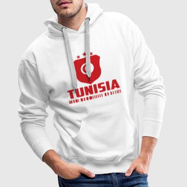 Tunisie Football Cadeau Fan Coupe du Monde - Sweat-shirt à capuche Premium pour hommes