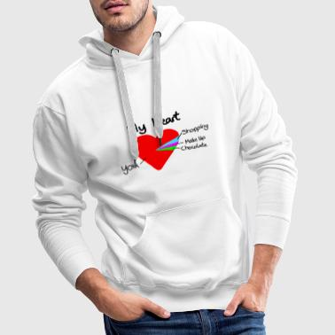 heart pie chart valentines day love - Sweat-shirt à capuche Premium pour hommes
