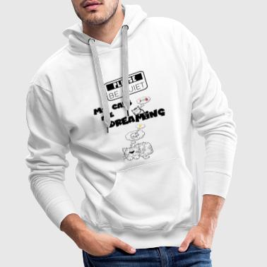 Silence please. My cats are dreaming - Men's Premium Hoodie