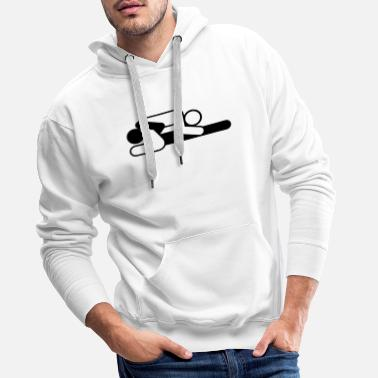 Cunnilingus A couple in 69 position - Men's Premium Hoodie