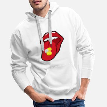 Free NO POWER TO DRUGS - Men's Premium Hoodie