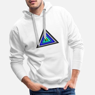 Triangle Triangles in triangle - Men's Premium Hoodie