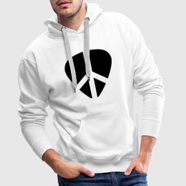 guitarpick with love and peace - Mannen Premium hoodie