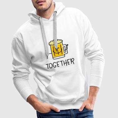 Better Together Partnerlook (Part2) Beer - Men's Premium Hoodie