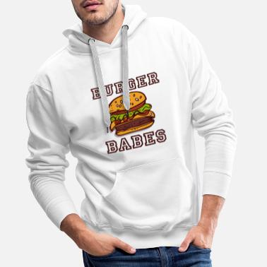 Hamburger Burger babes - Best Friends T-skjorte BFF - Premium hettegenser for menn