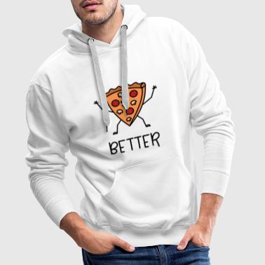 Better Together Partnerlook (Part1) Pizza - Männer Premium Hoodie