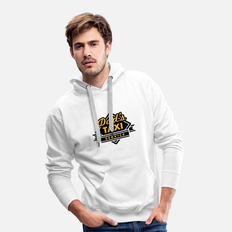 Taxi Hoodies & Sweatshirts - Dad's Taxi Service - Men's Premium Hoodie white