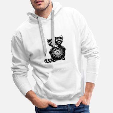 Sugar Skull A raccoon in the style of Sugar Skulls - Men's Premium Hoodie