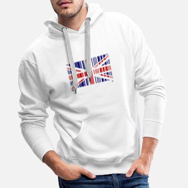 Flag Born in England London Football Gift British - Men's Premium Hoodie