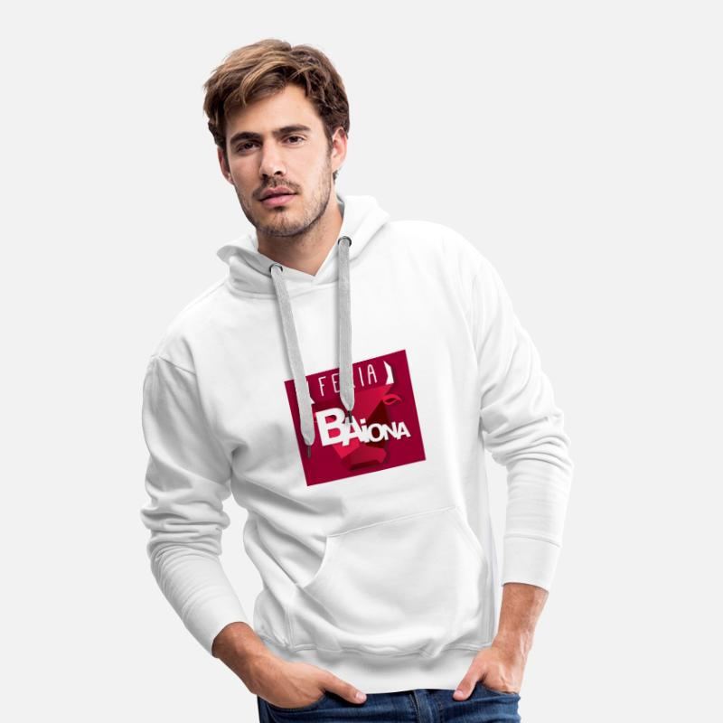 Fêtes Sweat-shirts - sweat-shirt taureau féria Bayonne - Sweat à capuche premium Homme blanc