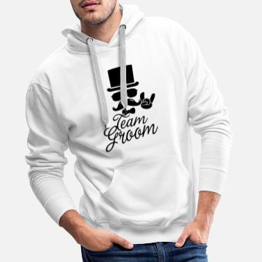 Bride And Groom Groom Wedding Marriage Stag Hen Night 4 Bachelor - Men's Premium Hoodie