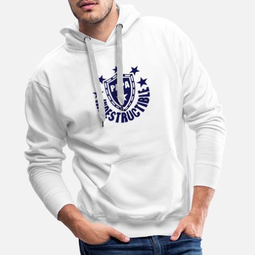 Papa Indestructible Bouclier Logo Sweat Shirt A Capuche Premium Pour Hommes Jpg