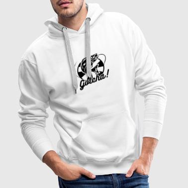 Fish on hook fisherman anglers fishing - Men's Premium Hoodie