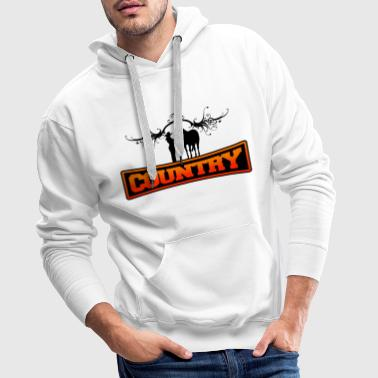 country - Sweat-shirt à capuche Premium pour hommes