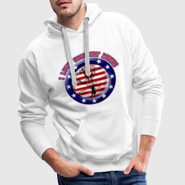 i love country music - Sweat-shirt à capuche Premium pour hommes