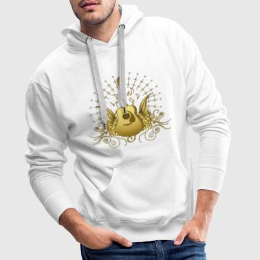 Winged Folk Guitar - Men's Premium Hoodie
