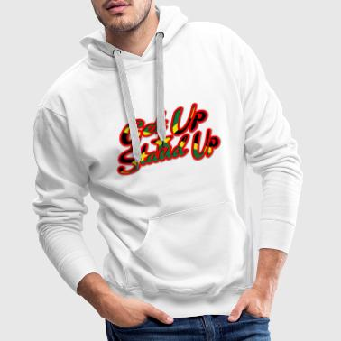 get up stand up - Sweat-shirt à capuche Premium pour hommes