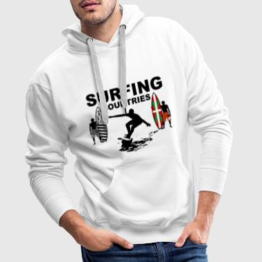 surfing countries - Sweat-shirt à capuche Premium pour hommes